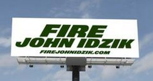 Has John Idzik seen his last days as Jets GM? Jet fans sure hope so (as seen from Jersey's famed Rt. 3).