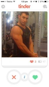 Gym Selfies??? Automatic Swipe Left.