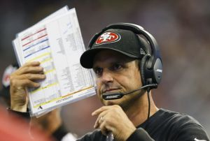With Sexy Rexy's tenure in NY all but over, could Jim Harbaugh be bringing his cleats, khakis, and alpha dog persona to Florham Park?